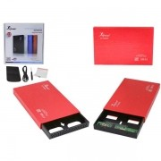 Case 2.5 HD Sata USB 2.0 Externo Vermelho KP-HD006 CS0032R - Knup