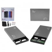 Case 2.5 HD Sata USB 2.0 Externo Prata KP-HD006 CS0032S - Knup