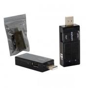 Testador e Medidor de Voltagem e Amperagem USB UTS-S1 TT0010 - Exbom