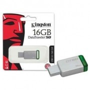 Pen Drive 16GB Datatraveler 50 USB 3.1 Metal/Verde DT50/16GB - Kingston