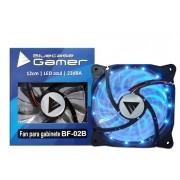 Cooler para Gabinete 120mm LED Azul (Hélice Azul) BF-02B - Bluecase