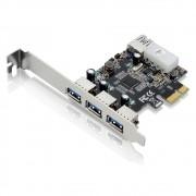 Placa PCI-Express 03 Portas Frontais + 01 Porta Traseira GA130 - Multilaser