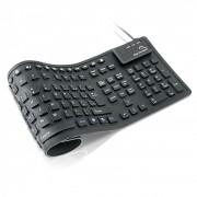 Teclado Flexivel Cinza USB TC092 - Multilaser