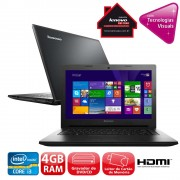Notebook G400S Core I3-3110M 4GB 1TB Gravador DVD leitor de Cartoes HDMI Wireless Webcam LED 14 e wind 8.1 -Lenovo