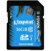 Cartao de Memoria 16GB SDHC Ultimate Classe 10 SDA10/16GB - Kingston