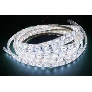 Fita Led Branco 5M - Tamanho dos Leds 3528 - 60 Leds Por Metro Com Silicone e Fita Dupla Face + Adaptador - Alltech