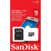 Cartao de Memoria 16GB Micro SDHC Classe 4 SDSDQM-016G-B35A - Sandisk