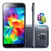 Smartphone Galaxy S5 com Android 4.4, Dual Chip, Quad Core 2.5 Ghz e Câmera de 16MP com Flash Preto LED G900MD - Samsung