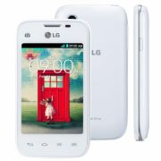Celular L35 Dual TV D157 Branco Tela de 3,2, Dual Chip, TV Digital, Android 4.4, Camera 3MP e Processador Dual Core