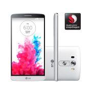 Smartphone G3, 4G, Android 4.4, 16GB, Tela de 5.5, Câmera 13MP, Branco - D855P + Carregador Sem Fio Incluso - LG