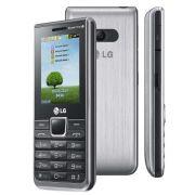 Celular Desbloqueado A395 Prata Com Quadri Chip Câmera 1.3MP,MP3,Rádio FM, Bluetooth,Fone e Cartão de 2GB - LG