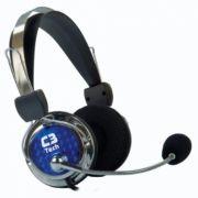Fone de Ouvido com Microfone Pterodax Prata/Preto MI-2322RC - C3tech