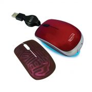 Mini Mouse Retratil Shiny Vermelho MO210C - New Link