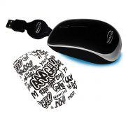 Mini Mouse Retratil Shiny Preto MO208C - New Link