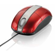 Mouse Steel Vermelho Piano USB MO133 - Multilaser