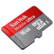 Cartão de Memória SDSDQUA-016G-U46A 16GB Mobile Ultra uSD Para Android Class 10 - Sandisk