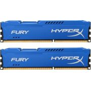 Memória 8GB 1600MHz DDR3 CL10 DIMM (Kit of 2) HyperX FURY Blue Series HX316C10FK2/8 - Kingston