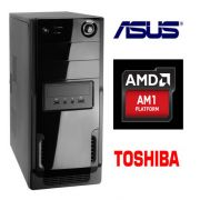 Computador AMD AM1 Quad Core 1.6Ghz Memória de 4GB DDR3 1600Mhz HD de 500GB DVD-RW - Glacon