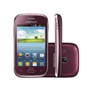 Smartphone Galaxy Young Plus S6293 Vermelho - Android 4.1, 3.26, 4 GB, Câmera 3MP, Wi-Fi, 3G, Dual Chip - Samsung