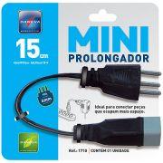 Mini Prolongador PP 3x075 15cm 2P+T Preto 1710 - Daneva