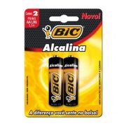 Pilha AA 2X1 Alcalina LR6 1.5V - BIC