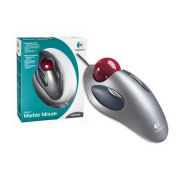 Mouse Óptico Marble Prata USB/PS2 910-000806 - Logitech