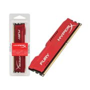 Memória 8GB 1600MHz DDR3 CL10 DIMM HyperX FURY Vermelha Series HX316C10FR/8 - Kingston