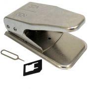 Alicate Cortador Duplo, Corta Chip Celular Micro e Nano Sim AL0007