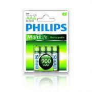 Pilha Recarregável AAA 900 mAH - Pack c/ 4 R03B4A90 - Philips