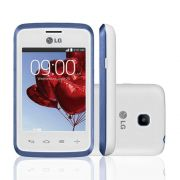 Smartphone L20 Single D100, Proc Dual Core, Android 4.4, Tela 3,0, Câm 2MP, 3G, Branco / Azul - LG