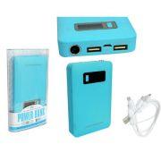 Carregador Portátil Universal USB 5V Powerbank 15000 mAh Azul AD0229AZ- IC