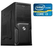 CPU Core I3 4150 3.5Ghz 3MB Memória de 4GB 1600Mhz HD de 1TB DVD-RW - Glacon
