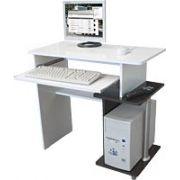 Mesa para Computador Flex Tabaco/Branco Pintura UV - Multivisão