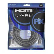 Cabo HDMI 1.4 com Filtro 4K Ultra HD 19p 15 Metros 018-1514 - Pix