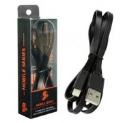 Cabo Lightning + USB A FLAT Preto 1,20M 018-0032 - Chip sce