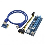 Cabo Riser PCI para mini PCI-e 16x 60cm e Cabo USB U34 VER006C - OEM