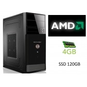 Computador Glacon AMD Dual Core 2650, 4GB de Memória, SSD de 120GB - Glacon