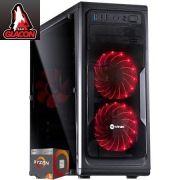 Computador AMD Ryzen 5 2400G, Memória de 8GB, HD de 1TB, Fonte de 600W PFC - Glacon