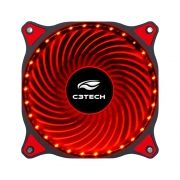 Cooler para Gabinete 120mm 30 LEDs Vermelho F7-L130RD Storm - C3 Tech