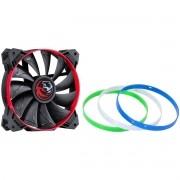 Cooler para Gabinete 120mm Calafrio Rings com Anéis Coloridos Intercabiáveis FCAL120ANCL 27121 - Pcyes