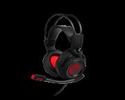 Fone de Ouvido com Microfone DS502 Gaming USB 7.1 LED Vermelho - MSI