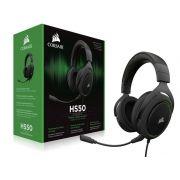 Fone de Ouvido com Microfone HS50 Stereo Green CA-9011171-NA - Corsair