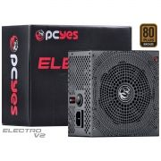 Fonte ATX 500W Electro V2 Series 80 Plus Bronze (PFC Ativo) ELECV2PTO500W - Pcyes