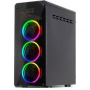 Gabinete ATX Gamer Andromeda LED RGB (Vidro Temperado) Preto 11011-4 - DT3 Sports