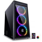 Gabinete ATX Jupiter com 3 Coolers LED RGB Frontal e Lateral em Vidro Temperado JUPPT7C3FCV 24040 - Pcyes