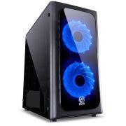 Gabinete ATX Venus Preto com 2 Coolers LED Azul Lateral em Acrílico VENPTAZ2FCA 29188 - Pcyes
