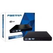 Gravadora de DVD/CD Externa Slim USB 2.0 FGDE81 - Faster