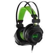Headset Gamer Warrior USB e P2 com LED Verde PH225 - Multilaser