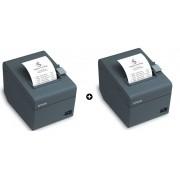 Kit com 02 unidades Impressora Térmica Não Fiscal TM-T20 USB L112026B - Epson
