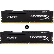 Kit com 2 unidades Memória HyperX FURY 4GB 2666Mhz DDR4 CL15 Black Series HX426C15FB/4 - Kingston